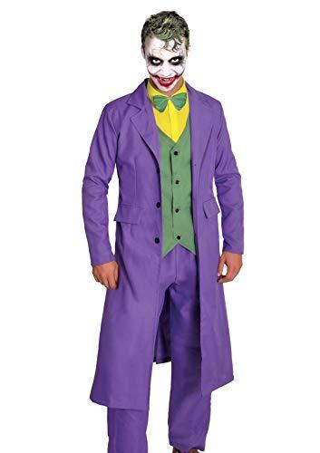 Ciao-Joker Costume Adulto Originale DC Comics (Taglia, Colore Viola, 11684.L