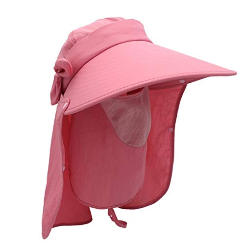 Kostüm Red Lady Hat - HOUYAZHAN Multi-Funktions-360 Grad Wird verhindert, aalen Sie Sich im Kostüm Bowknot Lady Cap, Fisherman Hat (Farbe : Red)