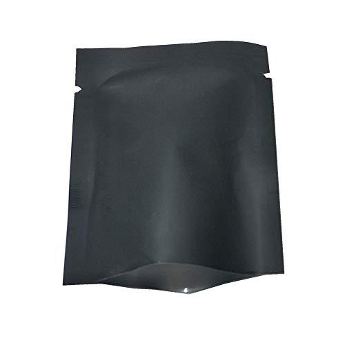 Mehrfarben Open Top Beutel Reinem Aluminium (3.1x4.7 zoll) Kaffee Trockenfrüchte Fleisch Vakuum Siegel Verpackung Mylar Bags Food Grade Beutel 100Stück (Schwarz)