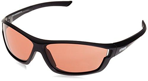 Uvex Sport style 611VL occhiali da sole sportivi, Sportsonnenbrille Sportstyle 611 Vl, Nero - Black Mat, Taglia unica