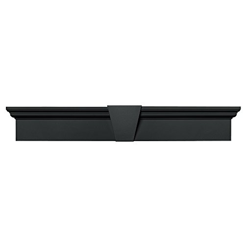 Builders Edge 060010637018 37 5/8 x 6 Flat Panel Window Header 018, Tuxedo Gray by Builders Edge (Edge-tuxedo)