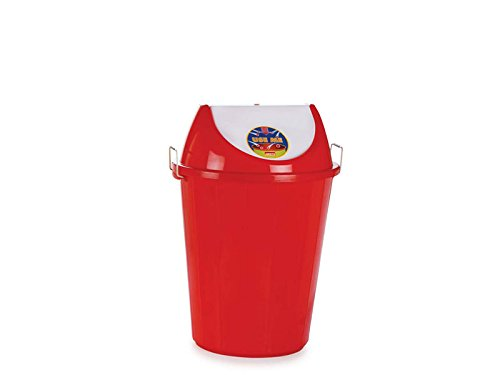 Aristo Swing Lid Garbage Waste Dustbin 32 Ltr (Red)
