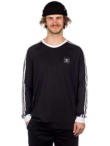 adidas Herren Cali BB Langarm T-Shirt, Black/White, L -
