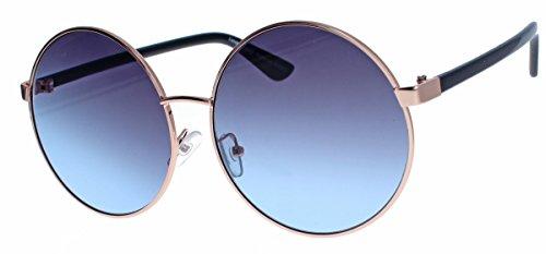 Große Damen Retro Sonnenbrille 60er 70er Jahre Hippie -