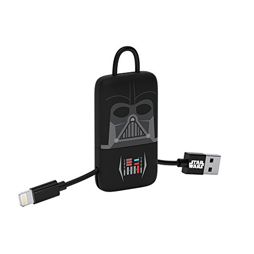 Tribe Star Wars - Cable USB Lightning para iPhone (Apple MFi Certificado), 22 cm, diseño Darth Vader