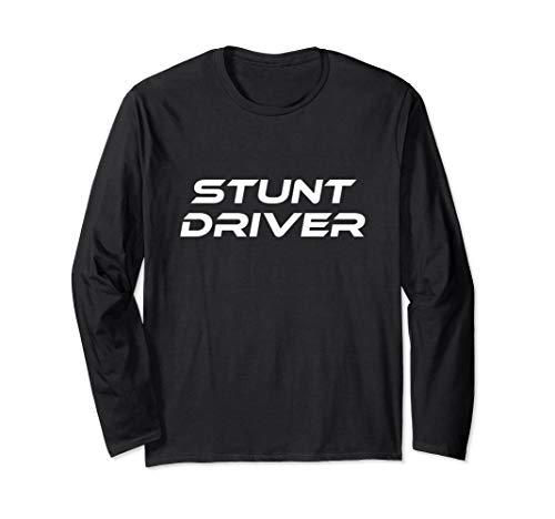 Race Car Driver Kostüm - Stunt Driver Race Car Lazy Halloween Kostüm Lustig Langarmshirt