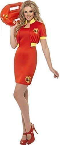 rettungsschwimmer TV Film Strand Kostüm Kleid Outfit - Rot, Rot, UK 12-14 (Tv Kleid)