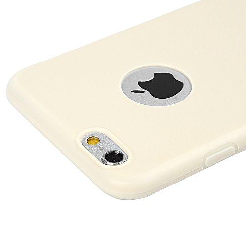 MAXFE.CO 2 x TPU Silikon Hülle für iPhone 6 6S Handyhülle Schale Etui Protective Case Cover Rück mit Ultra slim Skin Schleifen Monochrom Design Skin Farbe Rot + Pink + 1x Eingabestift Stylus Touch Pen Schwarz + Licht gelb