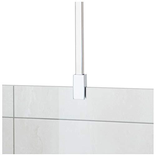 Stabilisationsstange für Duschen, Haltestange Glas - Decke, Stabilisierungsstange Duschwand, Stabilisator (Chrom eckig)