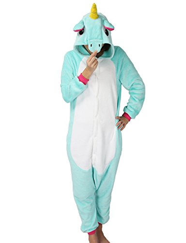 Très Chic Mailanda Karneval Halloween Pyjamas Schlafanzug mit Kapuze Erwachsene Cosplay Kostüm, Grün, XL