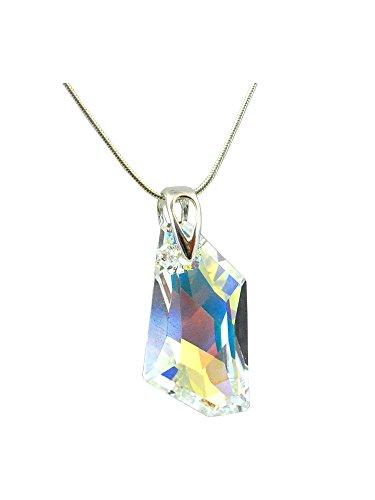 Crystals & Stones *Crystal AB* *DE-ART* 24 mm Swarovski Elements - Schön Damen Halskette - Anhänger Halskette Schmuck Mutter Geschenk mit Kristallen von Swarovski
