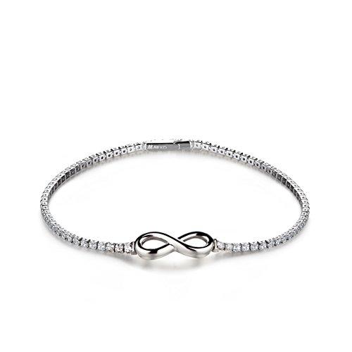 Silver bracelet plaqué platine/Dames simple bracelet de mode/Bijoux femme/ anniversaire B