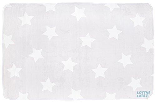 LOTTAS LABLE 65003-4 Teppich Softie Sterne grau 180x130 cm