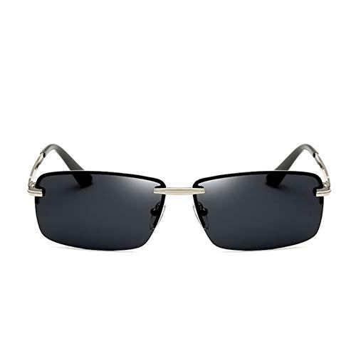 TIANZly Herren Rechteckige Rahmenlose Polarisierte SonnenbrilleUv400 Spiegel MännlicheSonnenbrilleFrauen Für Männer