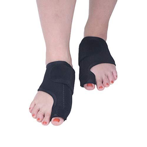 Healifty 1 Paar Hallux valgus Korrektur Zehenspreizer Fußschiene Bunion Schiene zur Hallux Schmerzlinderung für Damen Herren (Schwarz)