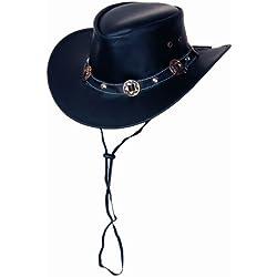 Rugged Earth piel sombrero sombrero de cowboy Western sombrero Concho, Negro, S–XL, negro, small
