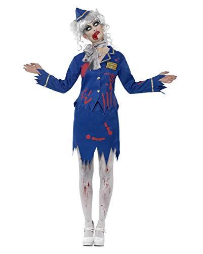 Horror-Shop Zombie Flugbegleiterin Kostüm M