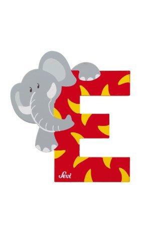 Trudi 81605 - Sevi Tierbuchstabe Elefant E rot