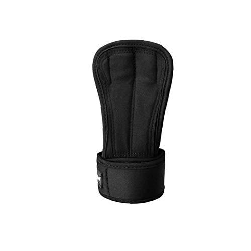 Trainings-Griff-Handschuhe Pads Mit Starken Handgelenk-Verpackungs-Klammer-Stütz Drei-Finger-Hebegriffe Padding Workout Fitness Gym Hand Voll Palm-Schutz M