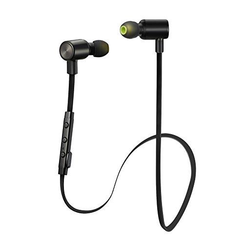 VicTsing Wireless Bluetooth 4.1 Kopfhörer Sport Stereo In-Ear Noise Cancelling Headphones Kopfhörer mit APT-X/Mic für iPhone 7, 7s, 6, 6s und Android Phones-Schwarz