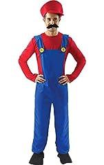 Idea Regalo - Costume Carnevale Halloween da Super Idraulico Videogame - uomo Standard