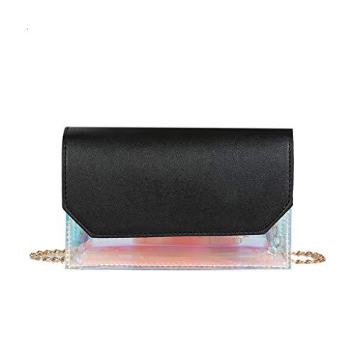Donna Pochette Elegante Borsa A Tracolla Spalla Catena Selvaggio Semplice—Moda—Tempo Libero— Shopping/Viaggio/Solitamente (Nero)