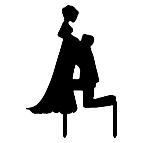 Topker Hochzeit Kuchen-Deckel-Einsatz-Karte Acryl-Kuchen-Dekoration Leben Bräutigam Braut-Verzierung