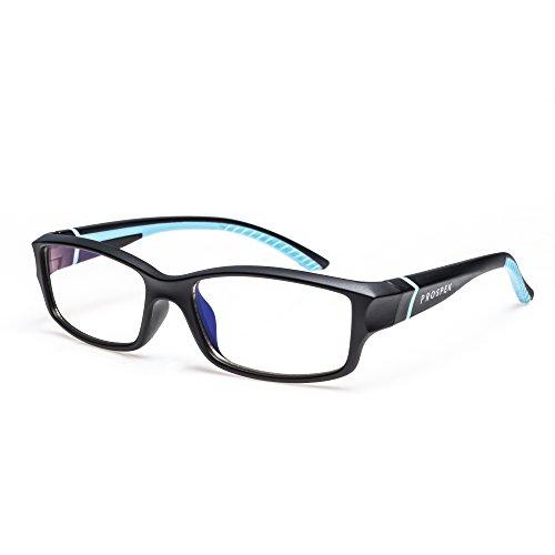 GAFAS DE ORDENADOR PROSPEK: Gafas para ordenador anti luz azul - Adolescente. Antirreflejante, antifatiga, protección contra UV y radiación electromagnética de ordenador/TV, antiniebla, antiarañazos
