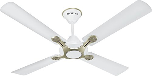 Havells Leganza 1200mm Ceiling Fan (Pearl White and Silver)