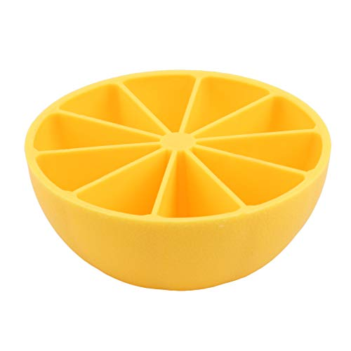 LIXIAQ1 Kreative Zitronen-Eiswürfel-Schalen-Form stapelbare Mini-Cocktail-Whisky-Süßigkeits-Form-Lagerbehälter, orange (Schokoladen-orangen-trüffel)