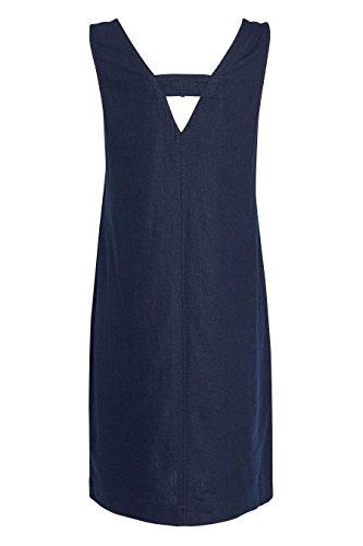 next Femme Coupe Classique Robe En Lin Mélangé Bleu 2