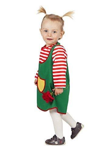 Kostüm Pippi Frauen Langstrumpf - Wilbers 3483 Kinderkostüm Grüne Schürze-92