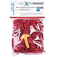 Tiletracker pro Reusable Tile Spacers 100x 3mm Trade Pack with J Hook.
