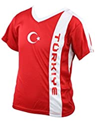 Türkei Turkey Turquie Turchia Turcja Turkije Kinder Trikot mit Mesh-Einsätzen, rot