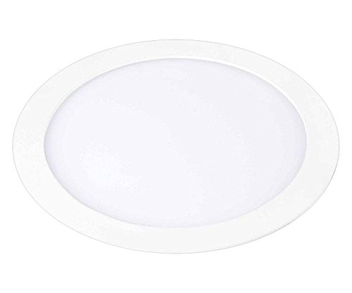 Downlight Led Redondo Kramfor 18w, 3000K, 1440 lúmenes, aluminio lacado en color blanco. Downlight Led extraplano, Blanco Cálido