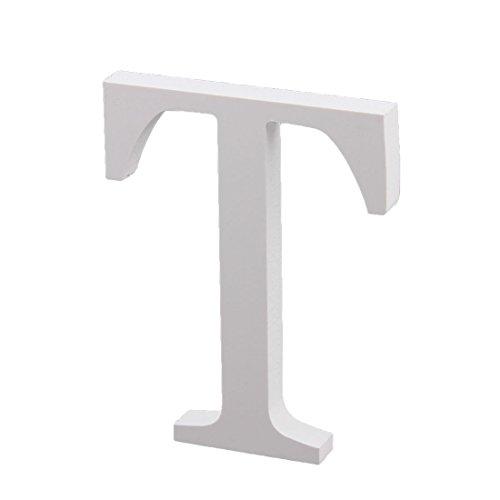 (sourcingmap Hochzeit Haus Sperrholz Dekoration Englisch T Buchstaben Alphabet Selberbasteln Handwerk Wand weiß)
