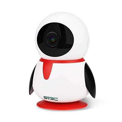 WLAN IP Kamera 1080P SV3C HD Überwachungskamera WiFi mit 355°/110°Schwenkbar, 2-Wege Audio und Nachtsicht Funktion, Sicherheitskamera Home Indoor-Kamera für Haustier/Baby Monitor (Optik-video-baby-monitor)