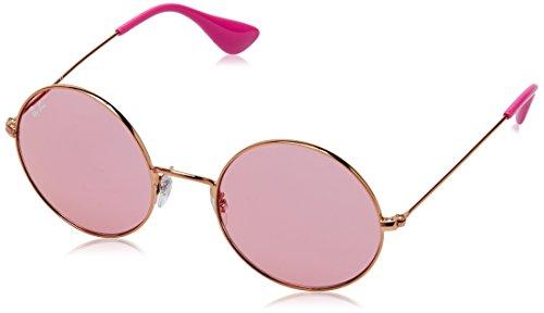 RAYBAN JUNIOR Damen Sonnenbrille Ja-Jo, Shiny Copper/Pinkdarkmirrorred, 50