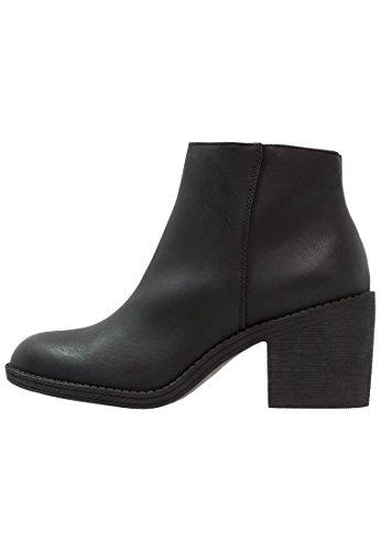 ff947cbb476250 Anna Field Ankle Boots - Elegante Damen Stiefeletten - Schwarze Stiefel mit  Schnalle
