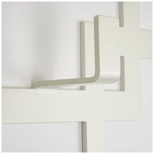 Appendiabiti da muro moderno, colore: avorio, The Metal ...