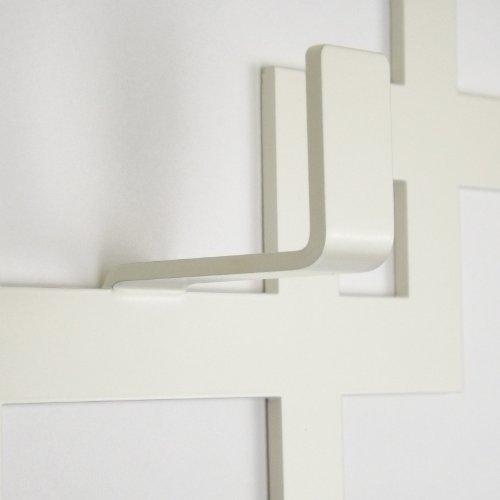 Appendiabiti da muro moderno, colore: avorio, The Metal House