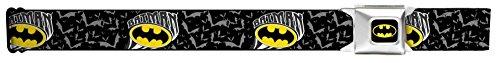 Buckle Down Men's Batman Dc Comics Superhero Bat Signal Bats Seatbelt Belt