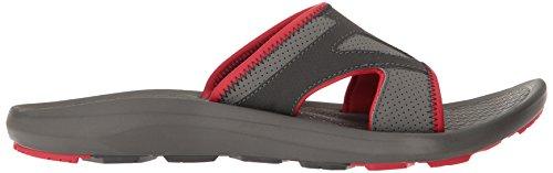 Columbia Mens Techsun Slide Athletic Sandal Titanium Mhw, Mountain Red