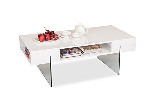 Durian Ford Coffee Table (Matt Finish, White)