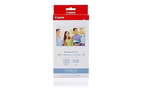 Canon 7737A001 / KP-36IP Original Ink Cartridge (Colour, incl. 36 Sheets 10x15cm) for Card Photo Printer CP 100, CP 200, CP 220, CP 300, CP 330; Selphy CP 220, 330, 400, 500, 510, 520, 530, 600, 710, 720, 730, 740, 750, 760, 770, 780, 790, 800, 810, 900