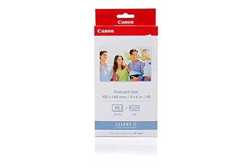 Preisvergleich Produktbild Original Canon 7737A001 / KP-36IP Tinte (Color, incl. 36 Blatt 10x15cm) für Card Photo Printer CP 100, CP 200, CP 220, CP 300, CP 330; Selphy CP 220, 330, 400, 500, 510, 520, 530, 600, 710, 720, 730, 740, 750, 760, 770, 780, 790, 800, 810, 900
