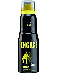 Engage Urge Deodorant For Men, 165ml / 110ml