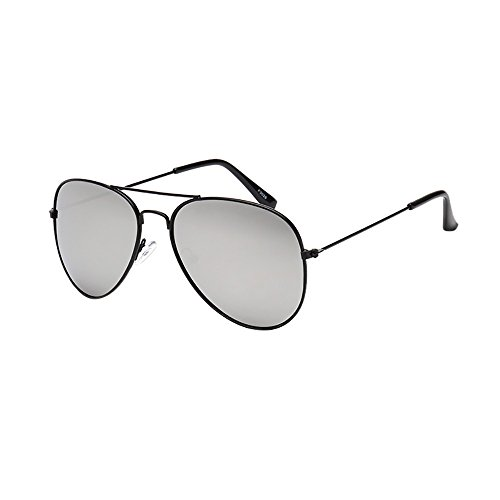Lazzboy Frauen Männer Vintage Retro Brille Unisex Fashion Oversize Rahmen Sonnenbrille Eyewear Mode Metallrahmen Verspiegelt Linse Herren Damen Mit Frühlings Scharnieren(C)