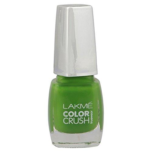 Lakme True Wear Color Crush Nail Color, Green 06, 9 ml