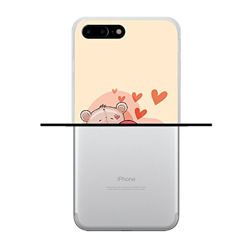 iPhone 7 Plus Hülle, WoowCase Handyhülle Silikon für [ iPhone 7 Plus ] Keep Calm and Be a Princess Handytasche Handy Cover Case Schutzhülle Flexible TPU - Transparent Housse Gel iPhone 7 Plus Transparent D0214